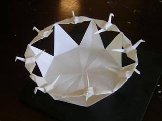 8 Flying Cranes by MannaOri