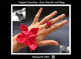 Origami Lotus - Jewelery by MannaOri