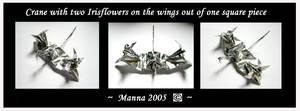 Crane with flowers by MannaOri