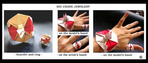 Big crane bird jewelery by MannaOri