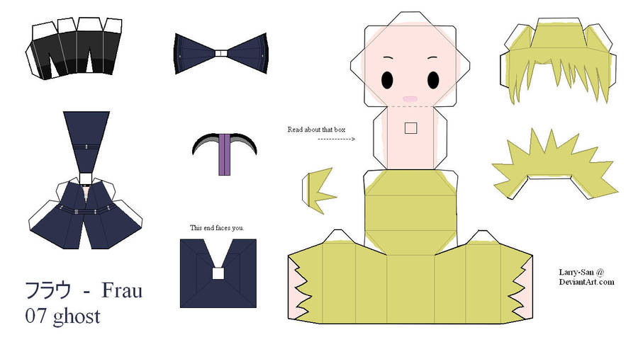 07Ghost Papercraft - Frau by Larry-San