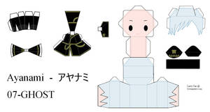 07Ghost Papercraft - Ayanami by Larry-San