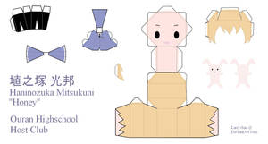 Ouran High School Host Club Papercraft - Honey by Larry-San
