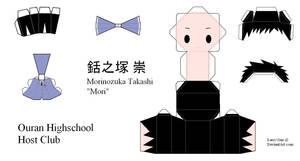 Ouran High School Host Club Papercraft - Mori by Larry-San