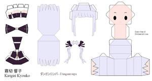Danganronpa Papercraft - Kirigiri Kyouko by Larry-San