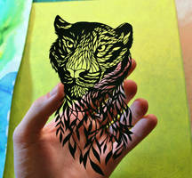 Tiger PAPER CUTTING by Snowboardleopard