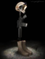 Fallen Soldier Battle Cross by JoePingleton