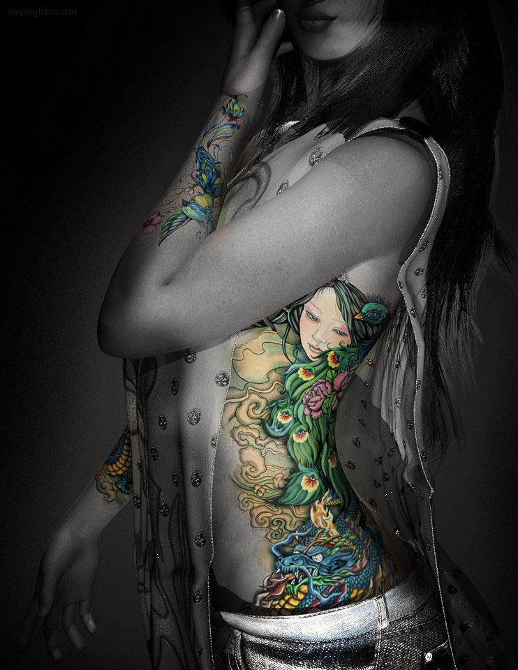 The Illustrated Woman by JoePingleton