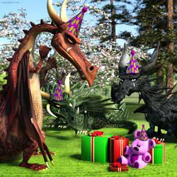 Dragon Party by JoePingleton
