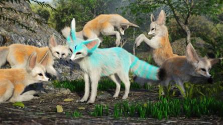Fennec Fox Party by JoePingleton