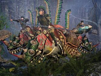 Rhino Riders by JoePingleton