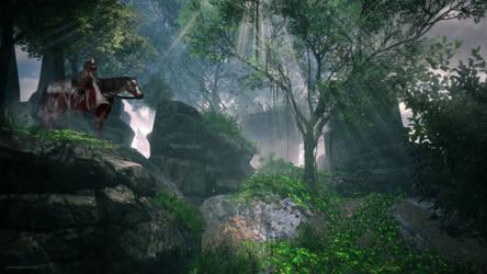 Knight in the Forest by JoePingleton