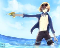 Goro in swimwear! by MonkeyHazard