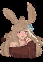 Comm: Shy Rabbit by MonkeyHazard