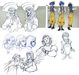 sketches 1 by Sally-Avernier