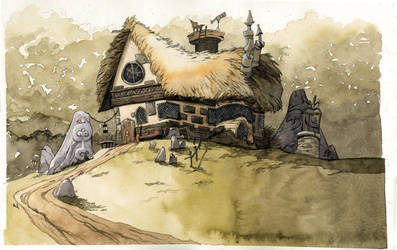 Uncle Bob's house by Sally-Avernier