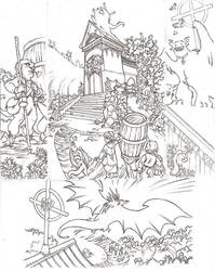 Ashrel tome 2 page uncolored by Sally-Avernier