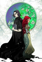 Snape and Lily by Sally-Avernier