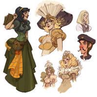 Steam girls by Sally-Avernier