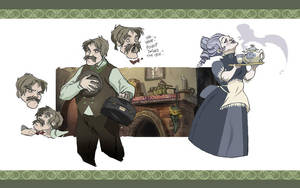 Watson and Mrs Hudson by Sally-Avernier