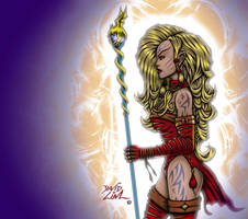 Elf Enchantress by dnewlenox