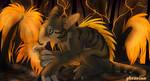 Night in the Fire Swamp by upsidedowncat