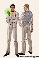 Men of DC- Hal and Ollie by Ammotu