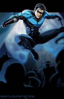 N - is for Nightwing by Ammotu