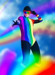 Rainbow Raider cosplay by Ammotu