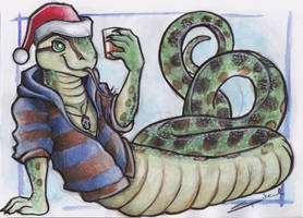 Reptile Xmas by shiverz