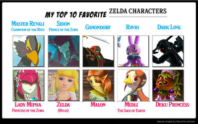 My Favourite Zelda Characters by Dark-Anmut