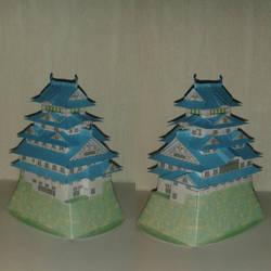 Himeji papercraft by minidelirium