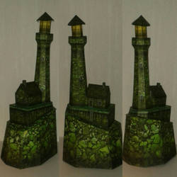 Haunted Lighthouse papercraft by minidelirium