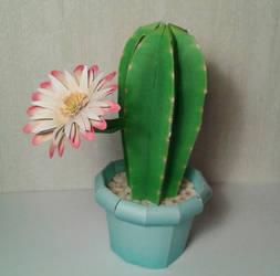 Columnar Cactus papercraft by minidelirium