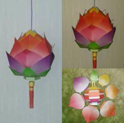 Lotus papercraft by minidelirium