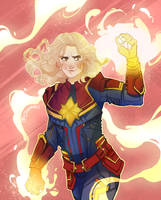 Captain Marvel by Domnics
