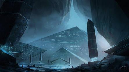 Pyramids II by JJcanvas