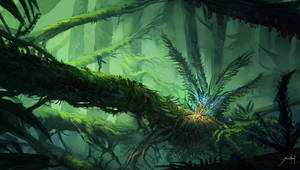 Alien Jungle by JJcanvas