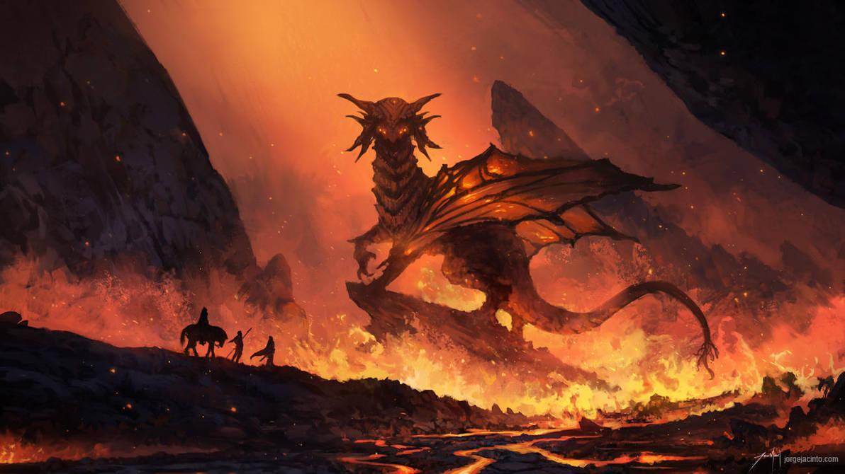 God of Fire by JJcanvas