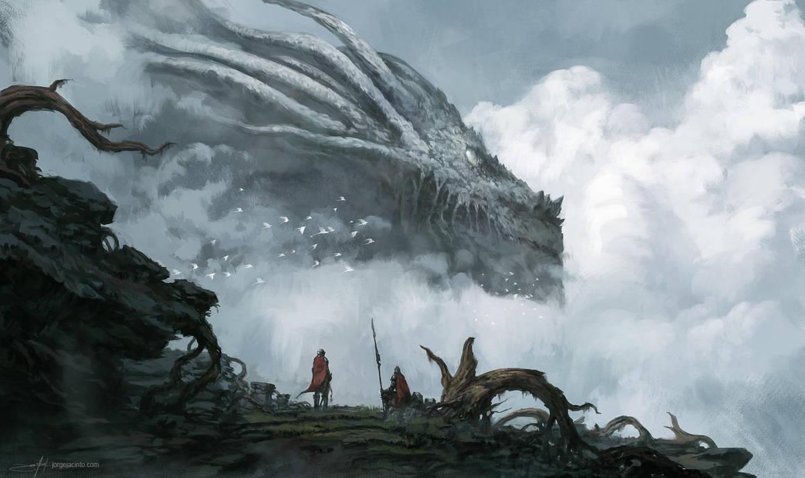 The Old Dragon God by JJcanvas