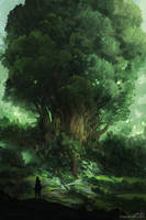 Sketch I - Leaves of the World Tree by JJcanvas