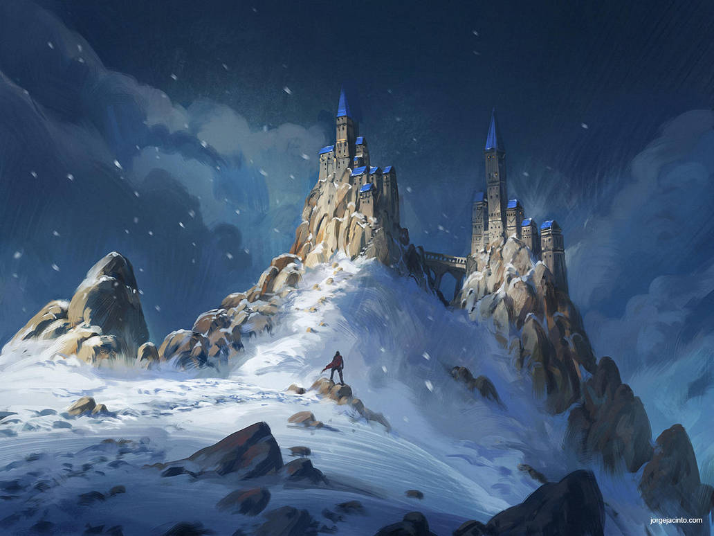 Snow Landscape by JJcanvas