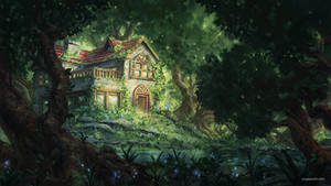 Forest House by JJcanvas