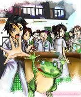 Mr.Frog : in science lab by krakuyaaa-kon