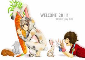 Bunnies' Play Time in 2011 by krakuyaaa-kon