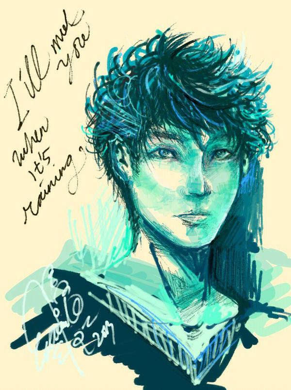 When It's Raining Blue by krakuyaaa-kon
