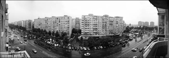 Dristor - Panoramic BW by joanchris