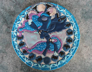 Stained Glass Princess Luna Gingerbread by moonsugar33