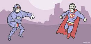 Megaman Vs Bizarro by Hartter