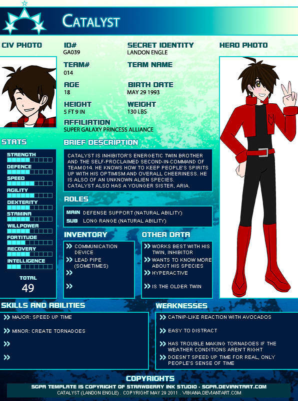 Hero OC - Catalyst by Vibiana